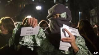 Argentinos protestam contra governo. Foto: Associated Press