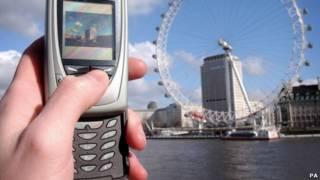 用手機拍倫敦眼