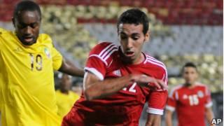 Abou Trika a célébré sa centième sélection en marquant l'un des deux buts contre la Guinée.