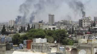Chiến sự ở một thị trấn của Syria