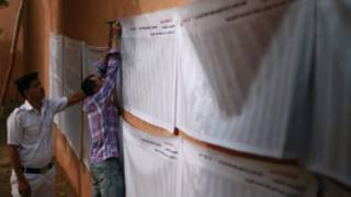 Lists of voters in Egypt