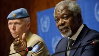 Kofi Annan da Manjo Janar Rebert Mood