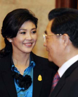 Thủ tướng Yingluck gặp ông Hồ Cẩm Đào khi thăm Bắc Kinh 2012
