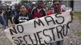 Protesta contra secuestros en México