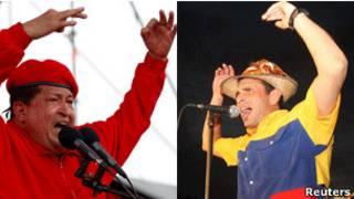 Hugo Chávez (esq.) e Henrique Capriles | Foto: Reuters