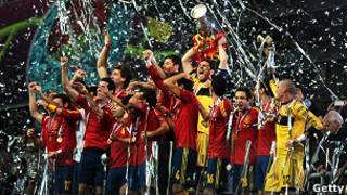 Espanha comemora título da Eurocopa   Photo credit: Getty images