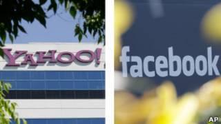 Yahoo and Facebook logos
