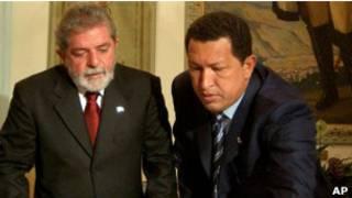 Lula e Chávez | Crédito da foto: AP
