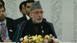 O presidente afegão, Hamid Karzai. | Foto: BBC