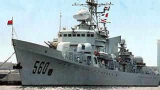 Chiến hạm số hiệu 560 của Trung Quốc bị mắc cạn ngoài khơi Philippines
