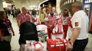 奧運選手開始抵達倫敦
