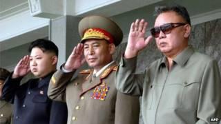 Kim Jong-un, Ri Yong-ho y Kim Jong-il