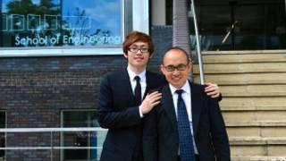 潘石屹和兒子潘瑞在華威大學
