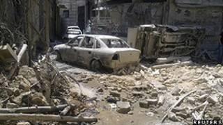 Destruição em Damasco (Reuters)