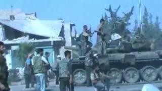 شورشیان در حلب گفتند که یک تانک دولتی را گرفته اند