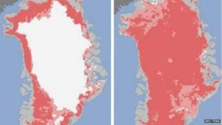 Deshielo en Groenlandia