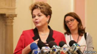 A presidente Dilma Rousseff realizada em Londres, no dia 27 de julho de 2012 (Reuters)