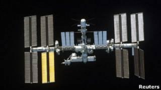 Международная космическая станция на околоземной орбите