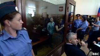 Процесс над участницами группы Pussy Riot в Хамовническом суде Москвы