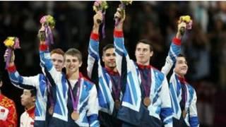 英國隊獲男子體操團體季軍