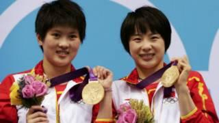 陳若琳、汪皓在領獎台