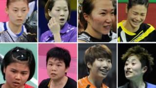 金荷娜、河貞恩、金旼貞、鄭景銀(上排從左至右),波莉、喬哈里、王曉理、于洋(下排從左至右)