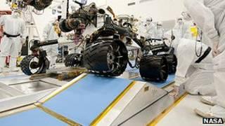 'Curiosity', robô da Nasa em missão em Marte