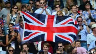 Британские болельщики на олимпийских трибунах