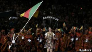 敦奧運開幕式上喀麥隆運動員入場