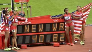 nuevo récord mundial en atletismo para Estados Unidos