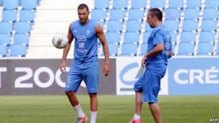 Franck Ribery dan Karim Benzema
