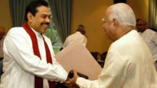 President Rajapaksa meets TNA leader (file photo)