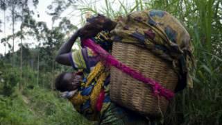 Une réfugiée congolaise