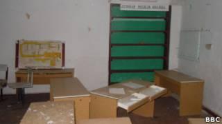 Пустой класс в закрытой русской школе в селе Александровка в Молдавии