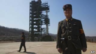 ракетная установка в Северной Корее