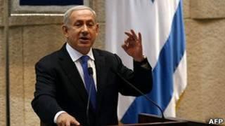 Биньямин Нетаньяху в кнессете