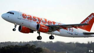 Самолет бюджетной авиакомпании easyJet
