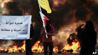 Протестующие в Бахрейне