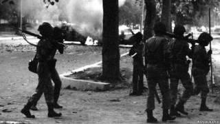 1984 में हुए सिख दंगों के दौरान पुलिस की गश्त