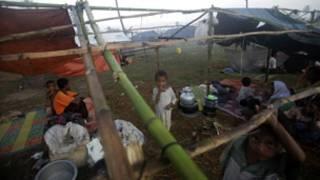 Muslim refugees in Rakhine State