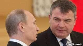 Сердюков и Путин