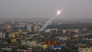Выпущенная боевиками из сектора Газа ракета