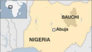 Ramani ya Nigeria na jimbo la Bauchi