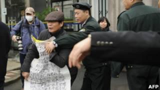 Peticionario en Shanghai