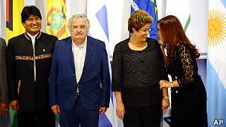 Evo Morales en el Mercosur.
