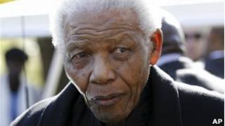 Первый чернокожий президент ЮАР Нельсон Мандела