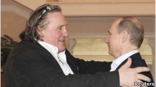Gerard Depardieu y Vladimir Putin