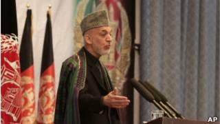 Presidente de Afganistán, Hamid Karzai
