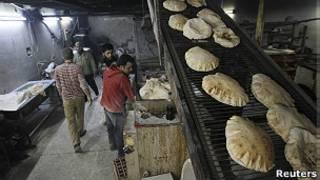 Panadería en Alepo.