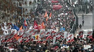 protesta en Moscú